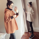 Women's large Winter 2020 Apricot Caramel M [80-100 Jin] l [100-120 Jin] XL [120-140 Jin] 2XL [140-160 Jin] 3XL [160-180 Jin] 4XL [180-200 Jin] Sweater / sweater Fake two pieces commute easy thick Socket Long sleeves Solid color Korean version Hood Medium length other Collage Yu Meng Fen Other 100%