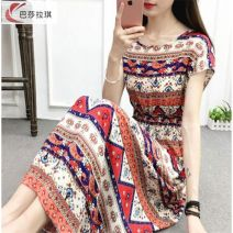 Middle aged and old women's wear Summer of 2019 2XL L M XL ethnic style trousers easy Three piece set other 40-49 years old Socket One word collar Medium length raglan sleeve Jingheng Diamond inlay other Other 100% 96% and above zipper shorts Short skirt skirt Grey duck down 71% - 80%