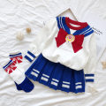 student uniforms Spring 2020 [girl] Short Sleeve Top + skirt + bow tie [girl] long sleeve Knitted Top + skirt (give limited socks) [boy] Short Sleeve Top + trousers + bow tie [boy] Long Sleeve Top + trousers + bow tie 90cm 100cm 110cm 120cm 130cm 140cm 150cm 160cm Long sleeves Korean version other