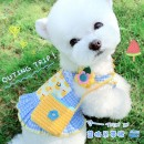 Pet clothing / raincoat currency Dress Meng Ruidi princess N73 - yellow duck blue plaid skirt without backpack I39 - strawberry red plaid skirt without backpack a11 - yellow backpack pin fixed I39 - red backpack pin fixed L41801S508