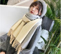 Scarf / silk scarf / Shawl Pashmina  Spring and autumn, winter currency Shawl multi-function Korean version rectangle Solid color tassels Other / other