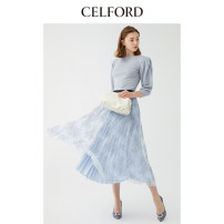 skirt Spring 2020 36 38 Ivory white pink blue purple longuette High waist 18-24 years old CWFS196007 More than 95% CELFORD other Other 100% Same model in shopping mall (sold online and offline)