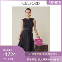 Dress Spring 2020 Lime green Beige denim 36 38 Mid length dress 18-24 years old CELFORD CWFO201030 More than 95% other Other 100% Same model in shopping mall (sold online and offline)