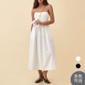 Dress Summer 2021 White, black US 0,US 2,US 4,US 6,US 8,US 10,US 12 Mid length dress singleton  Sleeveless Sweet other camisole Other / other other cotton