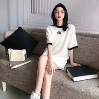 T-shirt white S M L XL Summer 2021 Long sleeves Crew neck Self cultivation Regular routine commute cotton 96% and above 18-24 years old Korean version Solid color Onema Cotton 100% Pure e-commerce (online only)