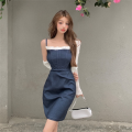 shirt White sunscreen denim blue suspender skirt S M L Summer 2021 other 96% and above Long sleeves commute Short style (40cm < length ≤ 50cm) stand collar Socket routine Solid color 18-24 years old Self cultivation Sonryton Korean version 2566* Other 100% Pure e-commerce (online only)