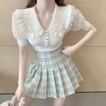 Body shaping waist cover / waist clip S M L Knitted top light apricot plaid skirt Sonryton Solid color H102 Summer 2021 Other 100% Pure e-commerce (online only)