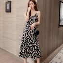 Dress Summer 2020 S M L XL 2XL longuette singleton  Sleeveless commute V-neck Loose waist Broken flowers Socket Irregular skirt routine camisole 18-24 years old T-type Zhilaiya Korean version Backless printing XB023152 More than 95% Chiffon polyester fiber Polyester 100% Pure e-commerce (online only)