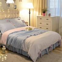 Bedding Set / four piece set / multi piece set cotton other Solid color 128x68 Other / other cotton 4 pieces 40 Sheet type, fitted sheet type, bed skirt type, bedspread type Qualified products Countryside 95% (inclusive) - 100% (exclusive) cotton