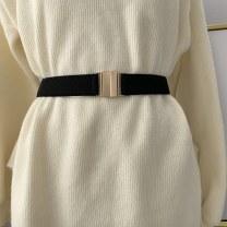 Belt / belt / chain other black female belt Simplicity Single loop a hook Glossy surface soft surface alloy Bare elastic Manlek Spring and summer 2011
