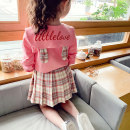 suit Mimihello Pink 90cm 100cm 110cm 120cm 130cm 140cm 150cm 160cm female spring and autumn leisure time Long sleeve + skirt 2 pieces routine There are models in the real shooting Socket nothing lattice cotton children Learning reward MGW28081 Class B Spring 2021 Chinese Mainland