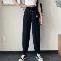 Women's large Spring 2021 Black light grey M [85-95 Jin] l [95-110 Jin] XL [110-130 Jin] 2XL [130-150 Jin] trousers singleton  commute easy moderate Solid color Korean version MKD-XW5509 Mikedo 18-24 years old 51% (inclusive) - 70% (inclusive) Other 100% Pure e-commerce (online only) trousers