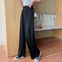 Women's large Summer 2021 Grey black L [95-110kg] XL [110-130kg] 2XL [130-150kg] 3XL [150-170kg] 4XL [170-200kg] trousers singleton  commute easy moderate Solid color Korean version Mikedo 18-24 years old Other 100% Pure e-commerce (online only) trousers