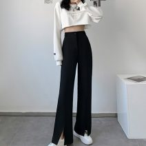 Women's large Spring 2021 Black apricot S [75-85 Jin] m [85-95 Jin] l [95-110 Jin] XL [110-130 Jin] 2XL [130-150 Jin] 3XL [150-170 Jin] 4XL [170-200 Jin] trousers singleton  commute easy moderate Solid color Korean version MKD-XDQ601 Mikedo 18-24 years old Other 100% Pure e-commerce (online only)