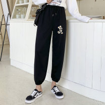 Women's large Summer 2021 White black apricot orange light grey M [85-95 Jin] l [95-110 Jin] XL [110-130 Jin] 2XL [130-150 Jin] trousers singleton  commute easy moderate Solid color Korean version MKD-XW0531 Mikedo 18-24 years old 51% (inclusive) - 70% (inclusive) Other 100% trousers
