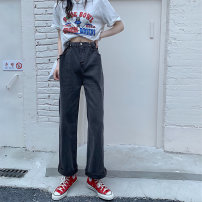 Women's large Spring 2021 Black grey XL [110-130 Jin] 2XL [130-150 Jin] 3XL [150-170 Jin] 4XL [170-200 Jin] trousers singleton  commute easy moderate Solid color Korean version MKD-DL958 Mikedo 18-24 years old Other 100% Pure e-commerce (online only) trousers