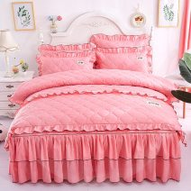 Bed skirt 1.2x2m bed [full set of 3-piece cotton clip set] 1.5x2 bed [full set of 4-piece cotton clip set] 1.8x2 bed [full set of 4-piece cotton clip set] 1.8x2.2 bed [full set of 4-piece cotton clip set] 2x2.2 bed [full set of 4-piece cotton clip set] cotton Beisiyu Solid color First Grade J36730