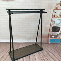 Clothing display rack 120 * 47 * 150 for thickened black parallel bars, 120 * 47 * 150 for thickened black parallel bars Official standard