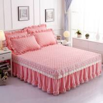Bed skirt 120 * 200 single bed skirt, 150 * 200 single bed skirt, 180 * 200 single bed skirt, 120 * 200 bed skirt + pillow case, 150 * 200 bed skirt + pillow case, 180 * 200 bed skirt + pillow case Others Other / other Solid color Qualified products