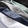 T-shirt Youth fashion 856 white, 856 black, 856 gray, 856 green, 856 blue routine 48,50,52,54,56 Others Short sleeve Crew neck standard Other leisure summer youth routine Basic public 2021 Embroidered logo cotton More than 95%