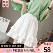 skirt Spring 2021 Average size (80-120 Jin) Turmeric white black blue Short skirt commute High waist Ruffle Skirt Solid color Type A 18-24 years old 785826-1 91% (inclusive) - 95% (inclusive) Chiffon Caileduo polyester fiber Lotus leaf edge Korean version Pure e-commerce (online only)