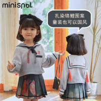 suit SNBL female spring and autumn college Long sleeve + skirt 2 pieces routine There are models in the real shooting Socket nothing other other Class B Polyethylene terephthalate (polyester) 100% Four, five, six, seven, eight, nine, ten, eleven, twelve