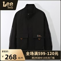 Jacket LeedDeep Youth fashion 2021 black 2021 Khaki M L XL 2XL 3XL 4XL routine easy Other leisure autumn Cotton 100% Long sleeves Wear out stand collar tide youth routine Zipper placket Rib hem No iron treatment Closing sleeve Solid color Spring 2021 Side seam pocket polyester fiber More than 95%