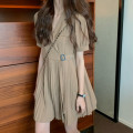 Dress Summer 2020 Black Khaki S M L XL Miniskirt Short sleeve 18-24 years old Dixi More than 95% other Other 100%