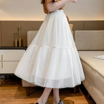 skirt Summer 2020 One size fits 85-130 kg Apricot black Mid length dress commute Natural waist A-line skirt Solid color Type A 18-24 years old RC3280-953 More than 95% Li Ruo Xi polyester fiber Korean version Polyester 100% Exclusive payment of tmall