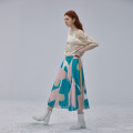 skirt Summer 2020 S M L Pink Mid length dress commute High waist A-line skirt other Type A 25-29 years old X2015119Q More than 95% Semicircle polyester fiber Pleated gauze literature Polyester 100% Pure e-commerce (online only)