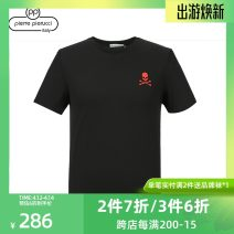 T-shirt Fashion City Black, white routine 46,48,50,52,54,56,59 Others Short sleeve Crew neck easy Other leisure summer 881A262514 Cotton 100%