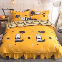 Bed skirt polyester fiber Other / other Plants and flowers Qualified products cqsjt2
