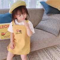 Dress Yellow Beige green female FURCAM.FC/ Camel 80cm 90cm 100cm 110cm 120cm 130cm Other 100% summer Korean version Skirt / vest Solid color cotton A-line skirt MMT20XKAJJBDQ Class B Summer 2020 They were 2 years old, 3 years old, 4 years old, 5 years old, 6 years old, 7 years old and 8 years old