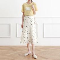 skirt Summer of 2019 XS,S,M,L,XL,2XL Beige commute High waist Dot eul-2919 EUL Korean version