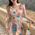 Women's large Spring 2021 Picture color S M L XL XXL Dress singleton  commute Self cultivation moderate Socket Sleeveless Korean version One word collar 18-24 years old 96% and above longuette Other 100% Pure e-commerce (online only) Irregular skirt