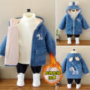 Cotton padded jacket male No detachable cap other Other / other Blue, khaki, yellow, pink, dinosaur khaki, dinosaur blue, dinosaur yellow, pink dinosaur 90cm,100cm,110cm,120cm,130cm,140cm Plush Zipper shirt cotton 3 months