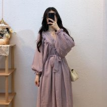 Outdoor casual suit Tagkita / she and others female 51-100 yuan sixty-one point eight zero Dress Purple M, L pdd#116981414348 Summer 2020
