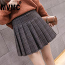 skirt Autumn 2020 S M L XL 2XL Grey brown Short skirt commute Natural waist Pleated skirt lattice Type A 25-29 years old M489546 More than 95% MVMC other fold Korean version Other 100% Pure e-commerce (online only)