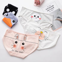 underpants female M L XL Feizuolin 5 cotton Briefs middle-waisted Sweet Cartoon animation juvenile 81% (inclusive) - 95% (inclusive) Cotton fabric Antibacterial printing 6372967128_ 114103157347697_ seven thousand two hundred and fifty-two Spring 2020 Cotton 100% Cotton 100% cotton