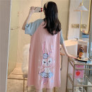 Nightdress Color in love with man MKKH21301 MKKH21302 MKKH21303 MKKH21305 160(M) 165(L) 170(XL) 175(XXL) Sweet Short sleeve Leisure home Middle-skirt summer Cartoon animation youth Crew neck cotton printing Knitted cotton MKKH21303 Spring 2021 Polyester 65% cotton 35% Pure e-commerce (online only)