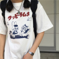 T-shirt G pink Q17 a white Q17 D grey Q17 M L XL XXL 3XL 4XL 5XL 6XL Summer 2021 Short sleeve Crew neck easy Regular routine commute cotton 86% (inclusive) -95% (inclusive) 18-24 years old Korean version originality Cartoon animation Soft and graceful RWTdm17 printing Pure e-commerce (online only)