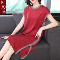 Women's large Summer 2020 Red (available in stock) black (available in stock) M L XL 2XL 3XL 4XL Dress commute Socket Korean version Fengmeixi 35-39 years old 96% and above Other 100% Pure e-commerce (online only) other