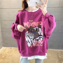 Sweater / sweater Winter of 2019 816 Fuchsia 816 green 816 yellow 908 rose red (cashmere) 908 gray (cashmere) 908 yellow (cashmere) 908 green (cashmere) M L XL XXL Long sleeves routine Socket Fake two pieces routine Crew neck easy commute routine Cartoon animation 18-24 years old Mi Han nylon
