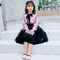 skirt Summer 2021 Middle-skirt Sweet Princess Dress Solid color Type A Under 17 other Other / other cotton princess