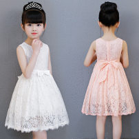 Dress White, pink female Bad little treasure 100cm,110cm,120cm,130cm,140cm,150cm Other 100% summer leisure time Skirt / vest Solid color other A-line skirt A066 Class B