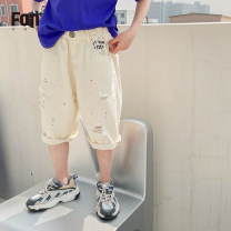 trousers Zhen Youfan male 100cm 110cm 120cm 130cm 140cm 150cm 160cm Black Beixing summer Pant leisure time There are models in the real shooting Jeans Leather belt middle-waisted cotton Don't open the crotch Cotton 100% 7340 - copy 1 Class B Summer 2021 Chinese Mainland Zhejiang Province Taizhou City