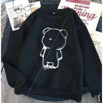 Sweater / sweater Autumn 2020 White [Chunqiu thin style] - 0066 / /, black [Chunqiu thin style] - 0066 / /, white [Plush thickening] - 0066 / /, black [Plush thickening] - 0066 / /// S,M,L,XL,3XL,XXL Long sleeves routine Socket singleton  routine Crew neck easy commute routine Cartoon animation
