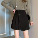 skirt Winter 2020 S,M,L Black, brown Short skirt commute High waist A-line skirt Solid color Type A 18-24 years old MY 51% (inclusive) - 70% (inclusive) Korean version