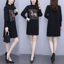 Women's large Winter 2014 black Large L, large XL, m, 2XL Dress singleton  Sweet easy thin Socket Long sleeves Cartoon animation other other Other / other 18-24 years old longuette Ninth pants other college