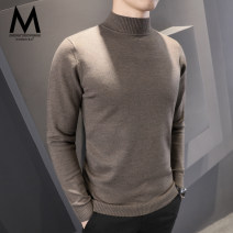 T-shirt / sweater default Business gentleman M L XL 2XL 3XL routine Socket Half high collar Long sleeves M002 winter Slim fit 2019 Viscose (viscose) 42% polyester 40% polyamide (nylon) 18% go to work Business Casual youth routine Solid color Autumn of 2019 Regular wool (10 stitches, 12 stitches)